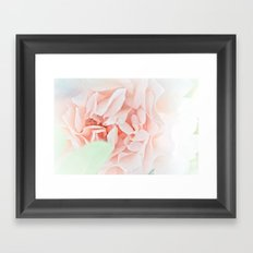 soft and pink Framed Art Print