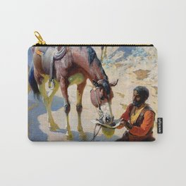 """William Leigh Western Art """"One Good Turn"""" Carry-All Pouch"""