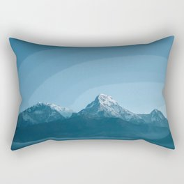 Pale Blue Montains Rectangular Pillow