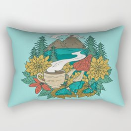 Pacific Northwest Coffee and Nature Rectangular Pillow