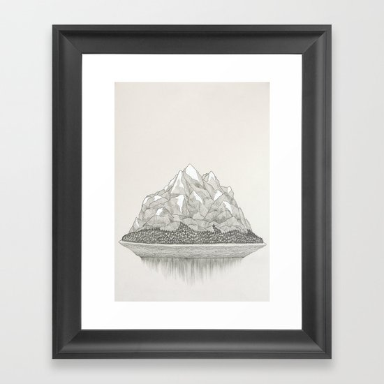 The Mountains and the Woods Framed Art Print
