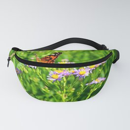Butterfly and Flowers Fanny Pack
