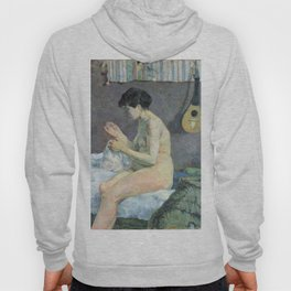 Study of a nude (suzanne sewing) - Paul Gauguin (1880) Hoody