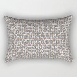 LINK - beige & indigo blue Rectangular Pillow