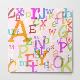 Alphabet in Color Metal Print