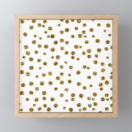Gold Glitter Confetti Framed Mini Art Print