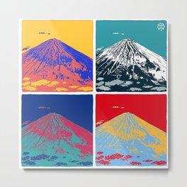 Mt. Fuji Pop Art Metal Print