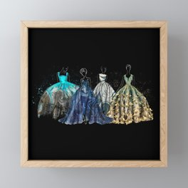 Evening Gowns Collection Fashion Illustration Framed Mini Art Print