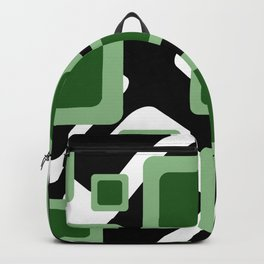 Green Grey Vintage rectangles pattern Geometry #society6 Backpack