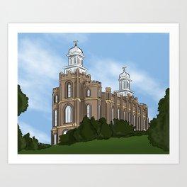 Logan Temple Art Print