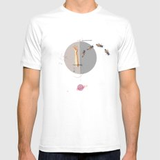Gravity | Collage Mens Fitted Tee MEDIUM White