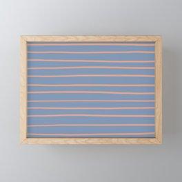 Earthen Trail 4-26 Hand Drawn Horizontal Lines on Dusky Sky 27-23 Framed Mini Art Print
