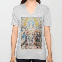 "William Blake ""The Day of Judgment"" Unisex V-Neck"