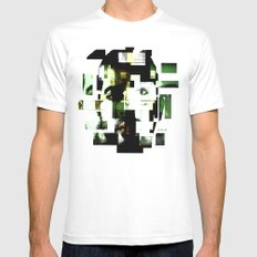 Shattered Mens Fitted Tee MEDIUM White