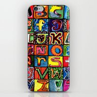 alphabet iPhone & iPod Skins featuring Alphabet by C Z A V E L L E