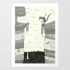 'Broken Bridge' Art Print