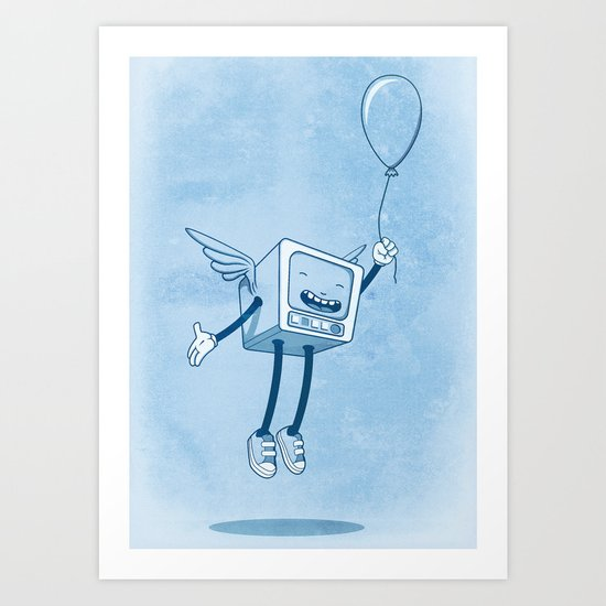 Ye' old TV Angel Art Print