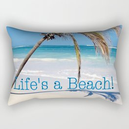 Landscape | Palm and Beach | Life's a Beach! | Nadia Bonello Rectangular Pillow