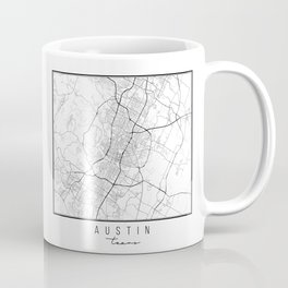 Austin Texas Street Map Coffee Mug