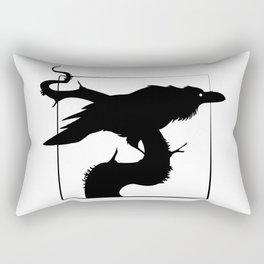 Raven Silhouette III Rectangular Pillow