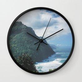 Na Pali Coast Kauai Hawaii Wall Clock