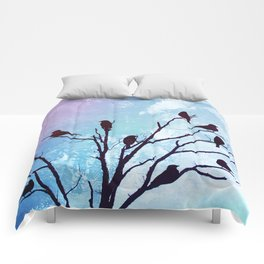 Blackbirds Tree Modern Cottage Chic Farmhouse Home Decor A503b Comforters