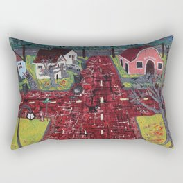 Red Brick Crossroads Rectangular Pillow