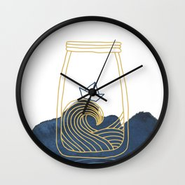 Bottled Sea Wall Clock