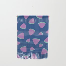 Abstract Graphic Pattern | Blue | Pink | Green Wall Hanging