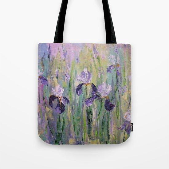 Gentle irises Tote Bag