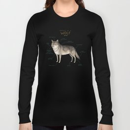 Anatomy of a Wolf Long Sleeve T-shirt