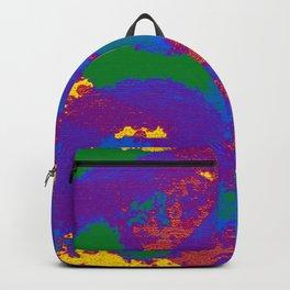 Gay Pride Abstract Textural Layered Paint Backpack