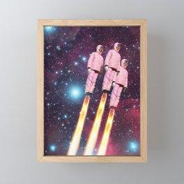 Pink Rockets Framed Mini Art Print