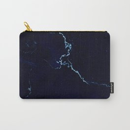 Night Blue Marble Carry-All Pouch