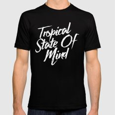 Tropical State Of Mind Mens Fitted Tee Black LARGE