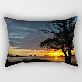 Winter Sunset Rectangular Pillow