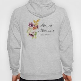 Blessed Assurance with Gray Letters Hoody