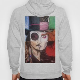 Four Faces of Johnny Depp Hoody