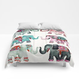 Elephant Collection – Turquoise & Coral Palette Comforters