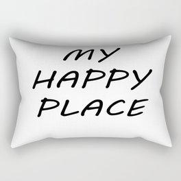 My Happy Place Rectangular Pillow