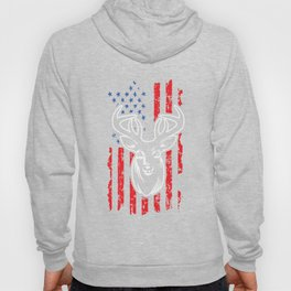 Hunting Deer USA Flag Jungle Hunters Feral Wildlife Forest Deer Hunt Huntress Gift Hoody