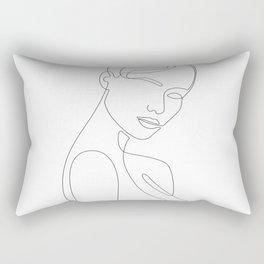 Shy Portrait Rectangular Pillow