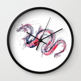 Koi Dragon Wall Clock