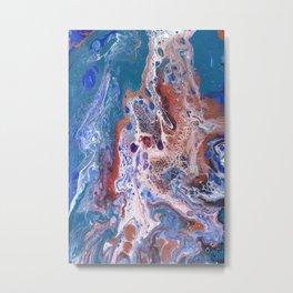 Turquoise Splash Metal Print