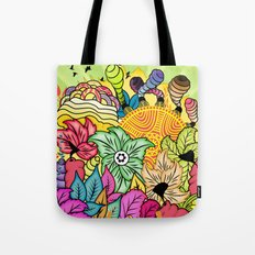 Colour In The Garden Tote Bag