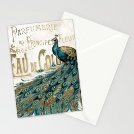 Peacock Jewels Stationery Cards
