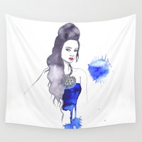 fashion illustration Wall Tapestries featuring fashion illustration by Rashmi Dagwar
