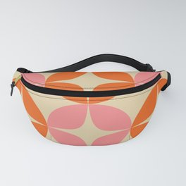 Mid Century Modern Pattern in Pink and Orange Fanny Pack