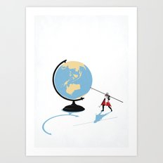 HOW THE WORLD WILL END Art Print