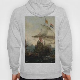 "Hendrick Cornelisz Vroom ""Dutch Ships Ramming Spanish Galleys off the Flemish Coast in October 1602"" Hoody"